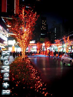街はクリスマス気分。